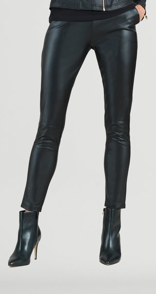 CLARA SUNWOO PT22L Liquid Leather Skinny Pocket Pant