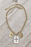 JULIO DESIGNS COLUMBIA CROSS TRIO Necklace