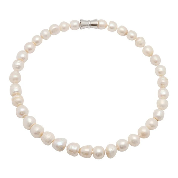 GIRL WITH PEARL 100-01 | WHITE BAM BAM SINGLE STRAND