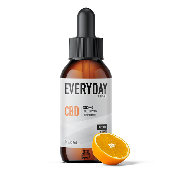 CBD Oil Tincture 500mg, 1 fl oz Orange