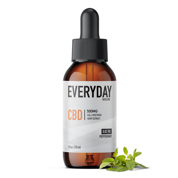 CBD Oil Tincture 500mg, 1 fl oz Peppermint