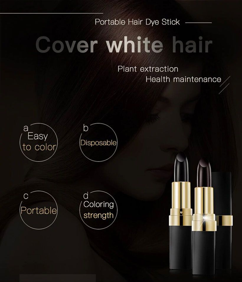 One-Time Hair dye Color Instant Gray Root Coverage - Fashion, Beauty, Home & Garden & More @Nesavastore