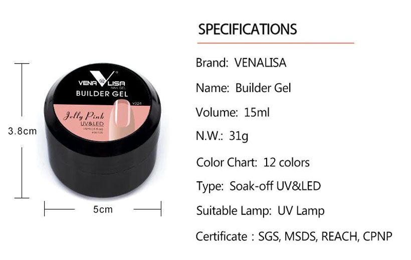 Venalisa Newest Products 12 Colors Jelly Poly Gel  - Fashion, Beauty, Home & Garden & More @Nesavastore