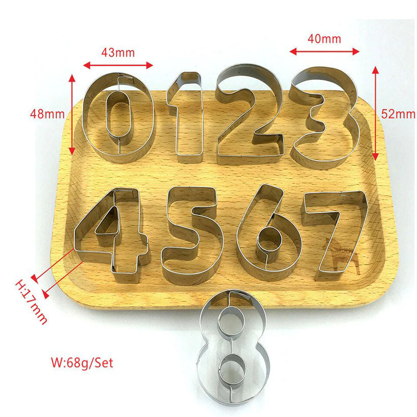 Hot Cookie Cutters Moulds 9PCSSet Puzzle Numbers - Fashion, Beauty, Home & Garden & More @Nesavastore