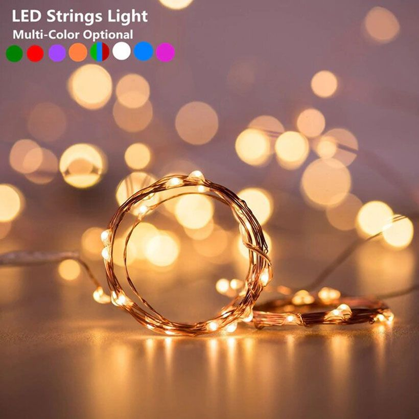 LED Powered by Battery String Fairy Lights - Fashion, Beauty, Home & Garden & More @Nesavastore