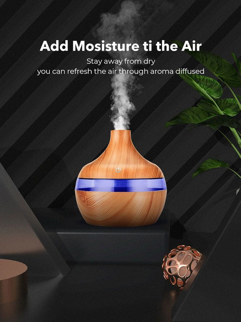 Electric Humidifier Essential Aroma Oil Diffuser Ultrasonic Air Humidifier - Fashion, Beauty, Home & Garden & More @Nesavastore