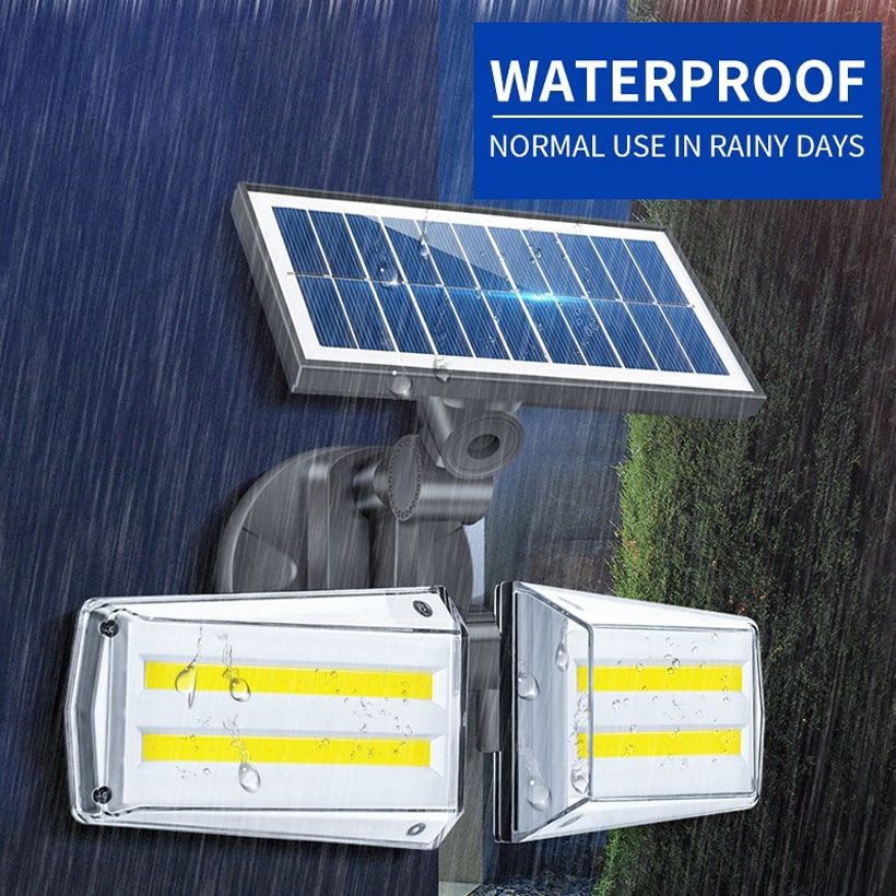 Solar Lights Outdoor Remote Dual 42 LEDs Lights - Fashion, Beauty, Home & Garden & More @Nesavastore