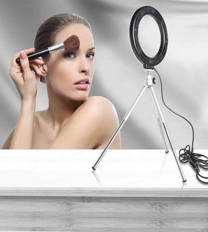 LED Ring Light with Stand for Youtube Tiktok Makeup - Shop Electronics, Fashion, Beauty, Home & Garden & More @Nesavastore
