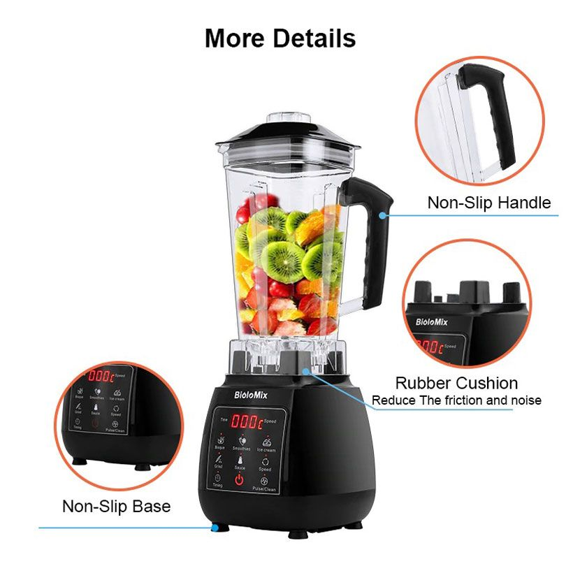 Digital 3HP BPA FREE 2L Automatic Touchpad Professional Blender Mixer - Fashion, Beauty, Home & Garden & More @Nesavastore