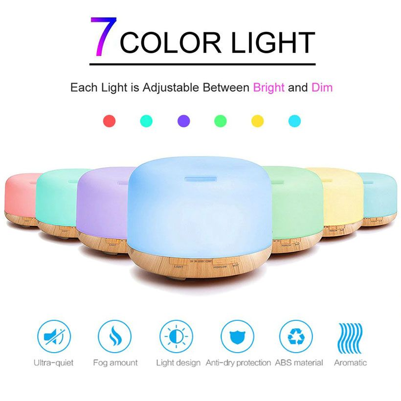 Air Humidifier Essential Oil Ultrasonic Cool Mist Maker - Fashion, Beauty, Home & Garden & More @Nesavastore