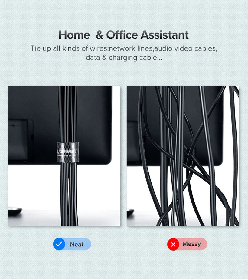 Cable Organizer Wire Winder Clip Cord Protector - Shop Electronics, Fashion, Beauty, Home & Garden & More @Nesavastore