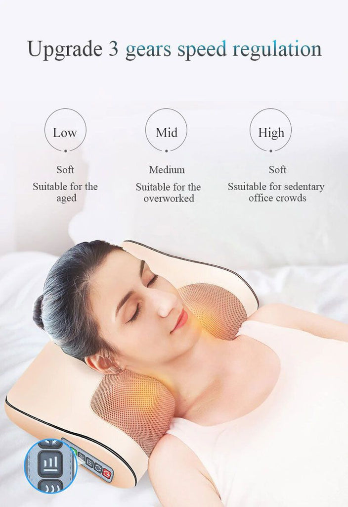 Infrared Heating Neck Shoulder Back Body Electric Massage Pillow  - Fashion, Beauty, Home & Garden & More @Nesavastore