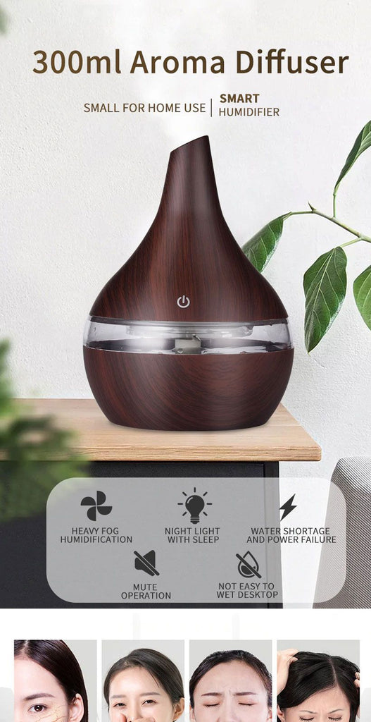 Electric Aroma Air Diffuser Ultrasonic Air Humidifier - Fashion, Beauty, Home & Garden & More @Nesavastore