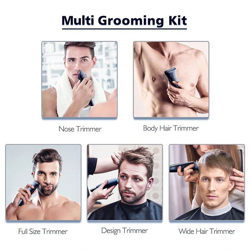 Professional Rechargeable Electric 5in1 Hair Trimmer  - Fashion, Beauty, Home & Garden & More @Nesavastore