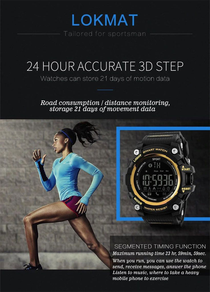 Men's Bluetooth Digital Pedometer Smart Watches - Fashion, Beauty, Home & Garden & More @Nesavastore