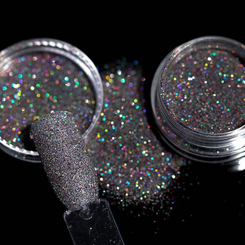 Gradient Shiny Nail Glitter Set Powder - Fashion, Beauty, Home & Garden & More @Nesavastore