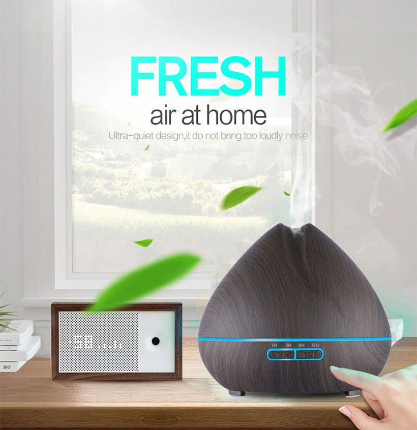 Remote Control Air Aroma Ultrasonic Humidifier With Color LED - Fashion, Beauty, Home & Garden & More @Nesavastore