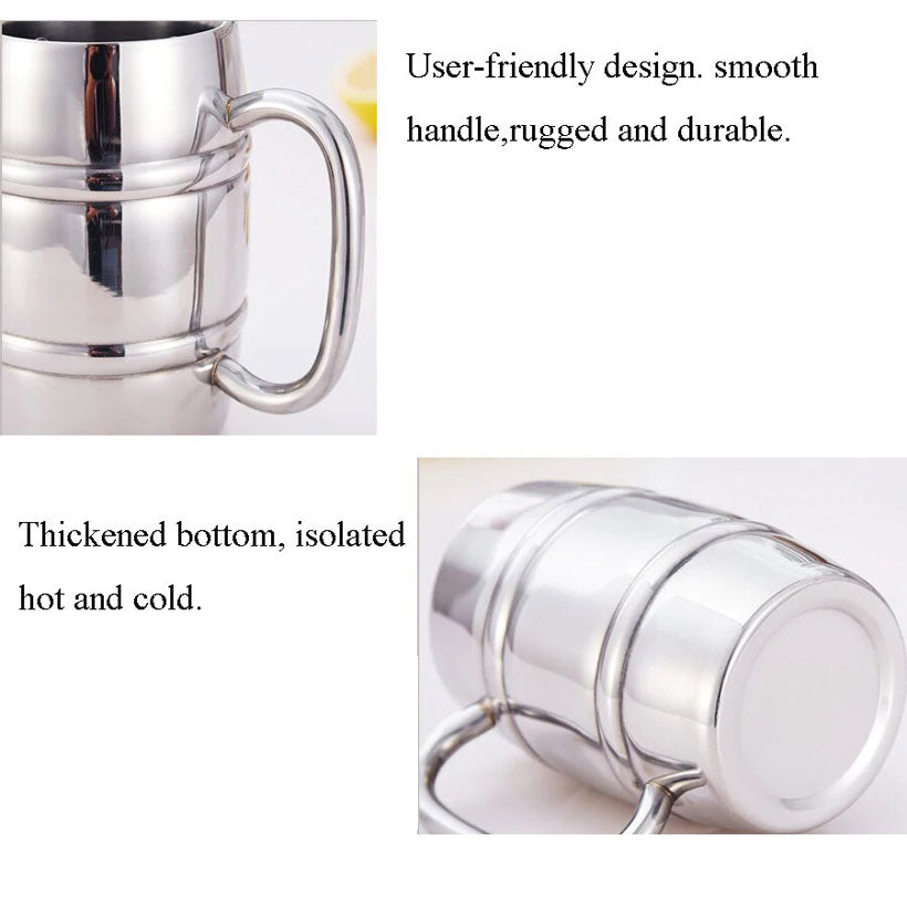 Stainless Steel Handle Insulated Portable Mugs - Fashion, Beauty, Home & Garden & More @Nesavastore