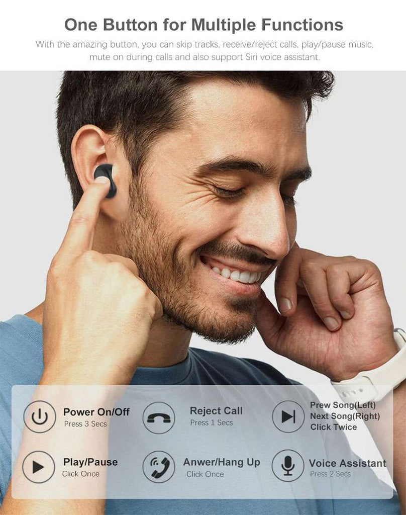 TW01 True Wireless Stereo Earbuds TWS Bluetooth 5.0 In-Earphones - Shop Electronics, Fashion, Beauty, Home & Garden & More @Nesavastore