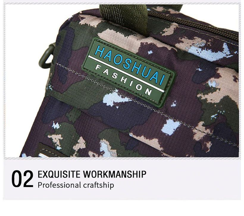 Men's Waterproof Nylon Camouflage Messenger Bag - Fashion, Beauty, Home & Garden & More @Nesavastore