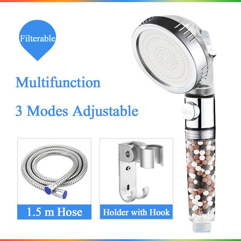 Water Saving Shower Head With Switch on-off Button - Fashion, Beauty, Home & Garden & More @Nesavastore