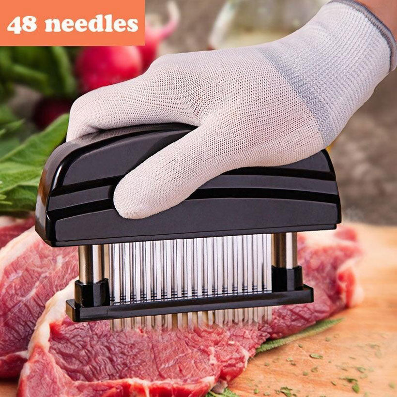 Meat Tenderizer with 48 Stainless Steel Ultra Sharp Needle - Fashion, Beauty, Home & Garden & More @Nesavastore
