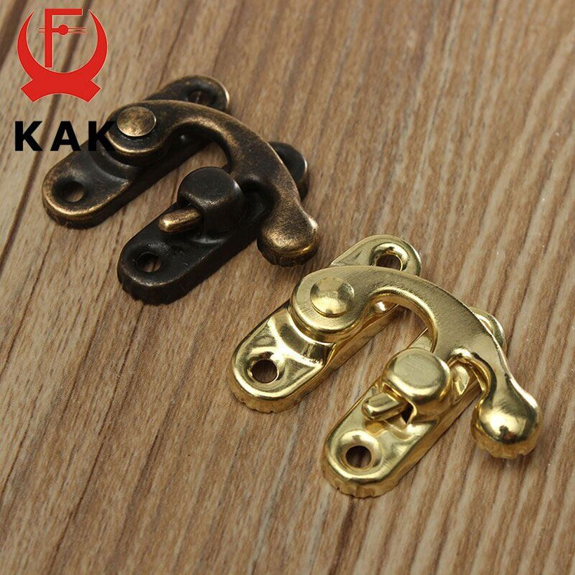 Antique Bronze 12pcs 34x28mm Iron Padlock Hasp Hook - Fashion, Beauty, Home & Garden & More @Nesavastore