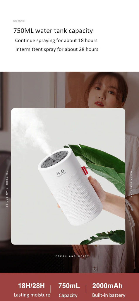 Wireless USB Aroma Diffuser Rechargeable Air Humidifier - Fashion, Beauty, Home & Garden & More @Nesavastore