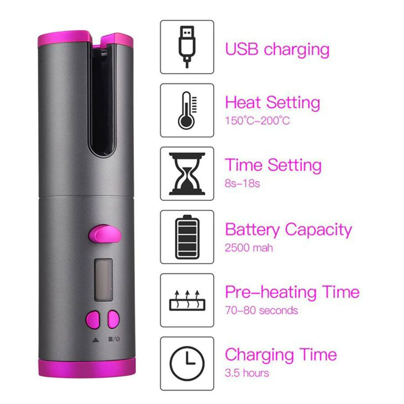 Auto Rotating Curling Iron