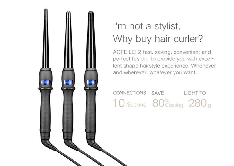 Professional Hair Curling, Styling Tools