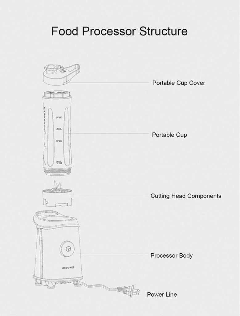 XIAOMI Cup Cooking Machine Vegetable Blenders - Fashion, Beauty, Home & Garden & More @Nesavastore