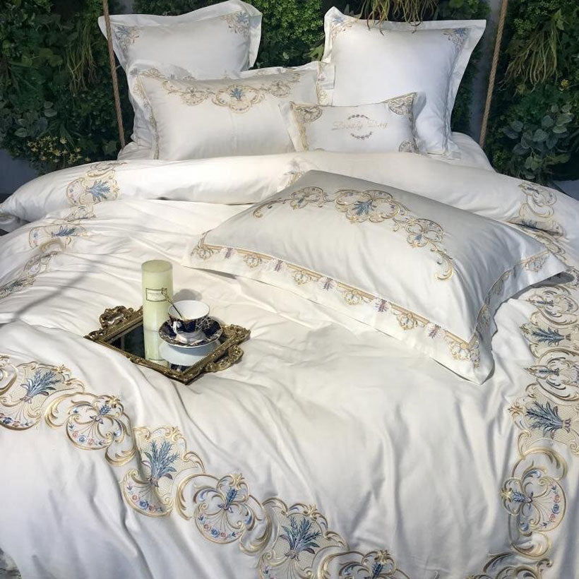 Oriental Embroidery Luxury Royal Egyptian Bedding Set - Fashion, Beauty, Home & Garden & More @Nesavastore