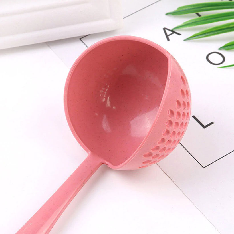 New Soup Plastic Long Handle Colander Spoon - Fashion, Beauty, Home & Garden & More @Nesavastore