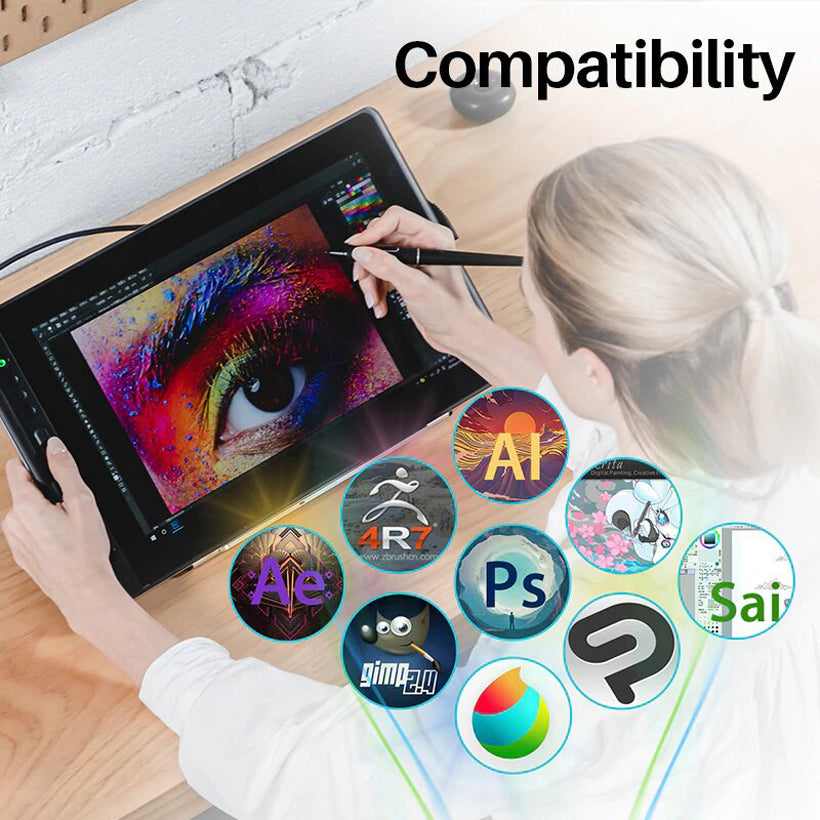"Kamvas Pro 16"" 15.6"" inch Battery-Free Drawing Graphics Tablet - Shop Electronics, Fashion, Beauty, Home & Garden & More @Nesavastore"