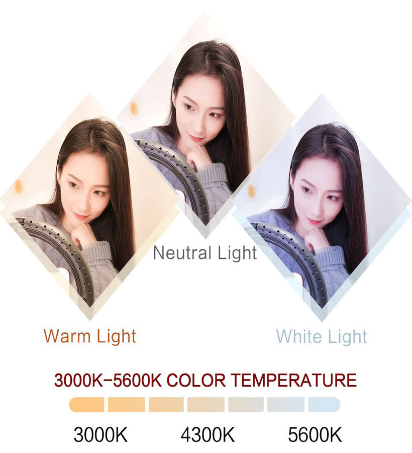 9 ''Dimmable LED Ring Selfie With Tripod - Shop Electronics, Fashion, Beauty, Home & Garden & More @Nesavastore