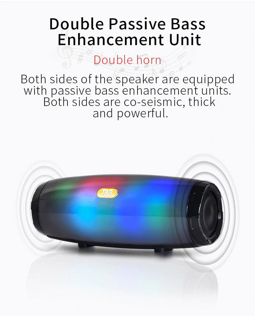 Led Portable Stereo Bluetooth Leather Column Speaker - Shop Electronics, Fashion, Beauty, Home & Garden & More @Nesavastore