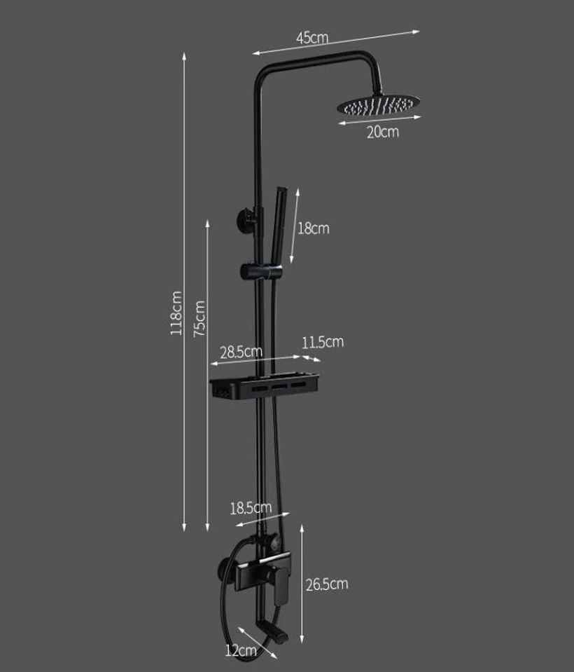 Wall Mounted Rainfall Shower Set Faucet - Fashion, Beauty, Home & Garden & More @Nesavastore