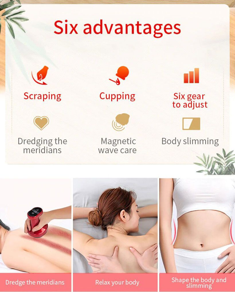Electric Gua Sha Scrapping Massager - Fashion, Beauty, Home & Garden & More @Nesavastore