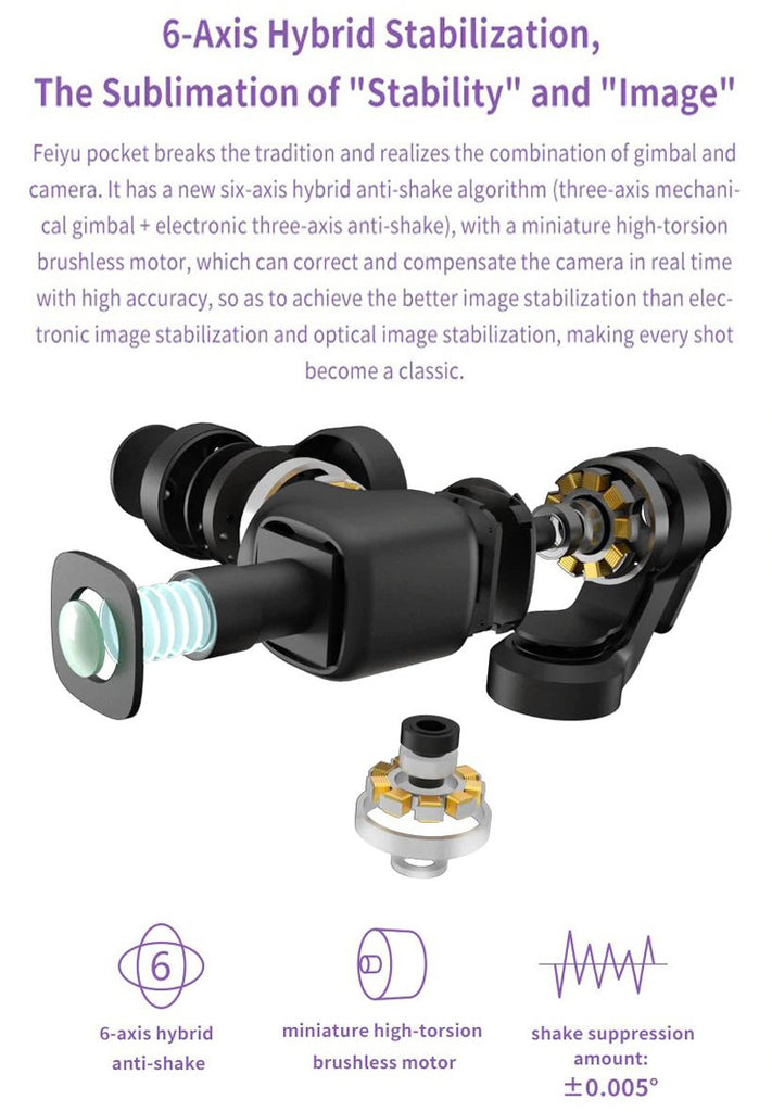 Pocket Stabilized Camera 6-Axis Hybrid Stabilization 4K - Fashion, Beauty, Home & Garden & More @Nesavastore