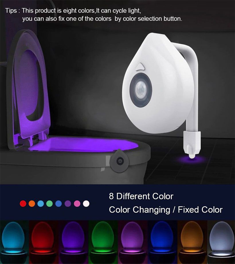 LED Motion Sensor Toilet Seat Night Light - Fashion, Beauty, Home & Garden & More @Nesavastore
