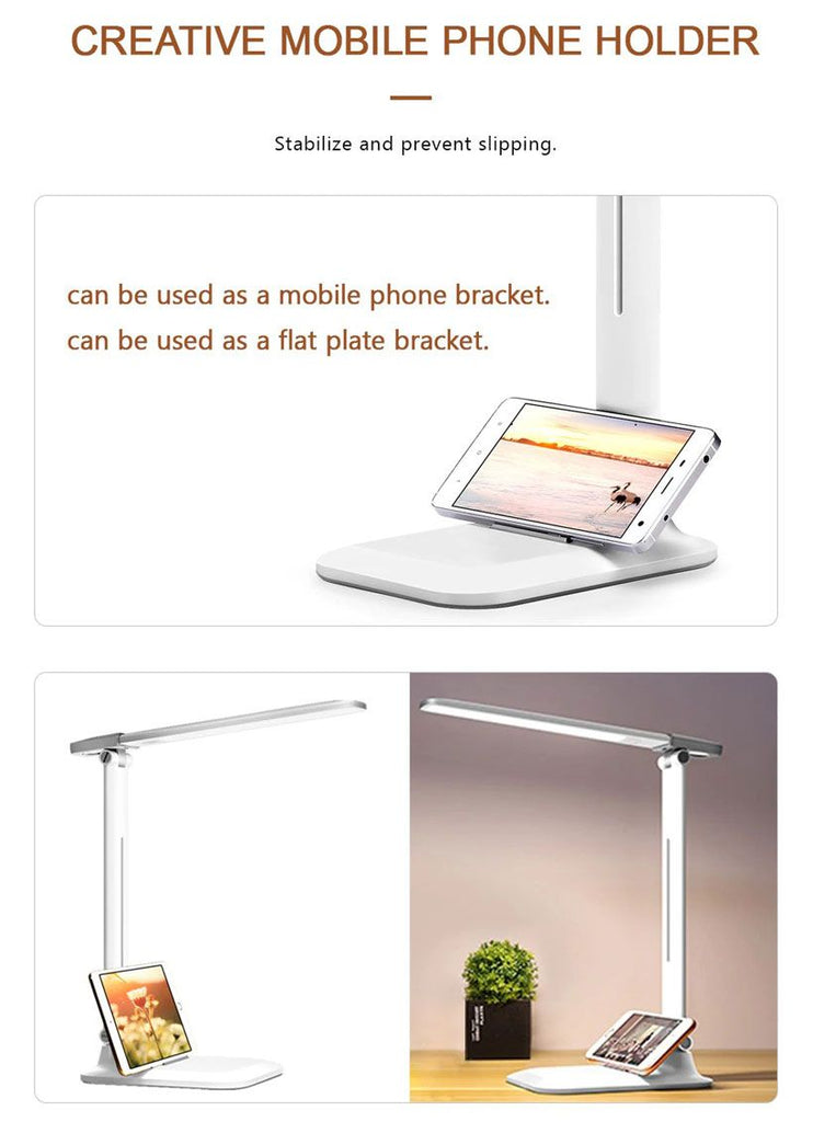 USB Rechargeable LED Desk Lamp 3 Modes For Study - Fashion, Beauty, Home & Garden & More @Nesavastore