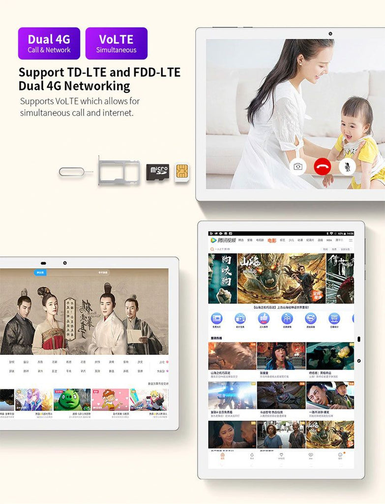 TECLAST M30 10.1 Inch Tablet 4 GB RAM 128 GB ROM Android Tablet - Fashion, Beauty, Home & Garden & More @Nesavastore