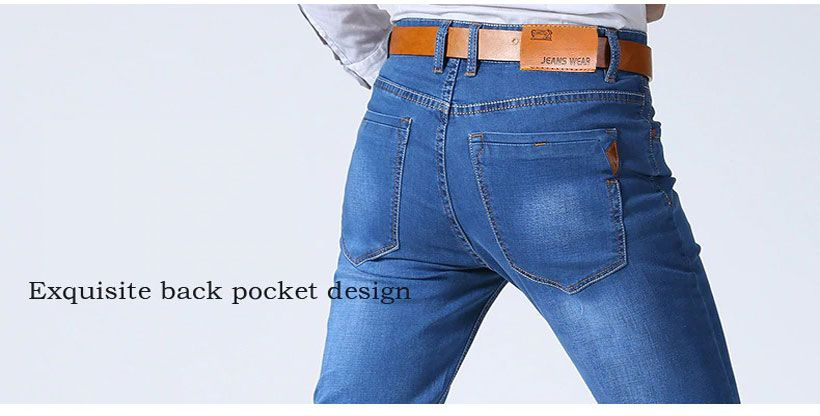 Men's Classic Stretch Slim Denim Pants - Fashion, Beauty, Home & Garden & More @Nesavastore