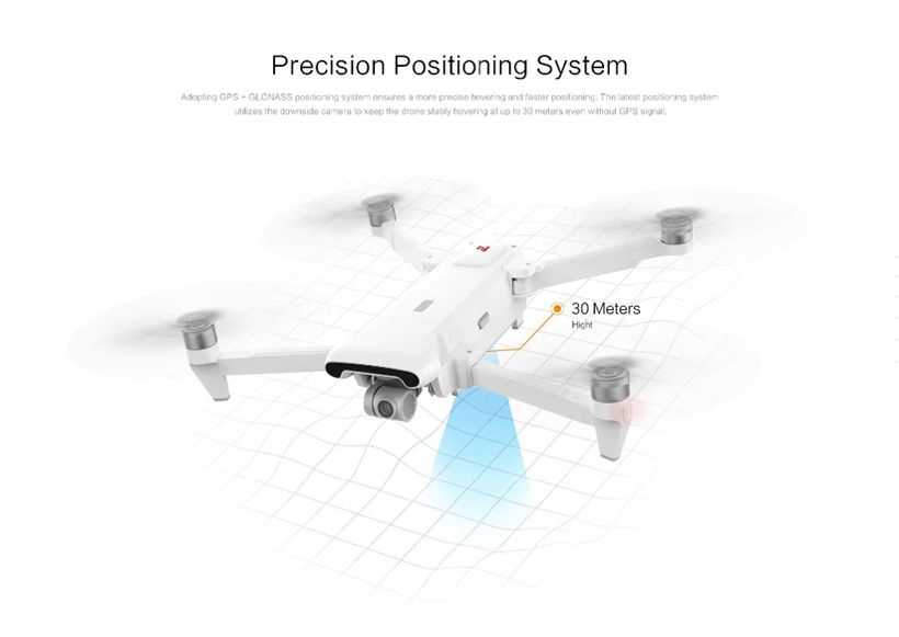 Fimi White Foldable Quadcopter With Camera - 8KM FPV 3-axis Gimbal 4K - Fashion, Beauty, Home & Garden & More @Nesavastore