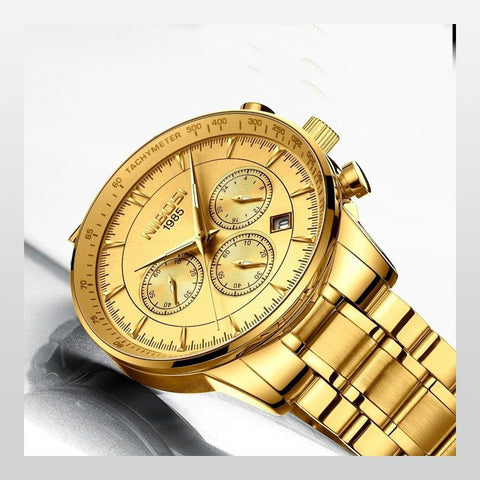 Men Gold Top Brand Luxury Sport Quartz Watches