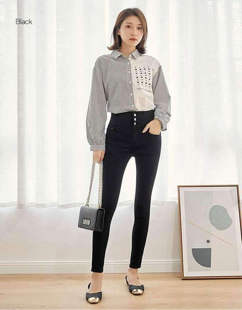 Women Autumn High Waist Slim Jeans - Shop Electronics, Fashion, Beauty, Home & Garden & More @Nesavastore