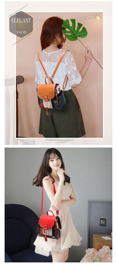 Women's Designer Leather Retro Backpack - Shop Electronics, Fashion, Beauty, Home & Garden & More @Nesavastore