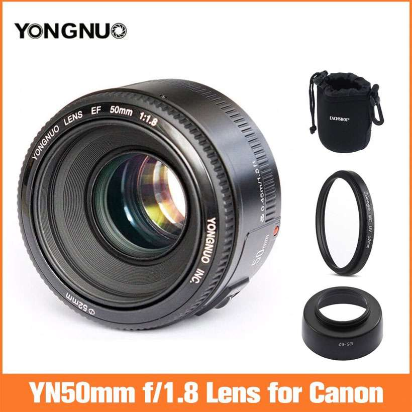 Auto Focus YN EF 50mm f1.8 AF Aperture Lens For Canon - Shop Electronics, Fashion, Beauty, Home & Garden & More @Nesavastore