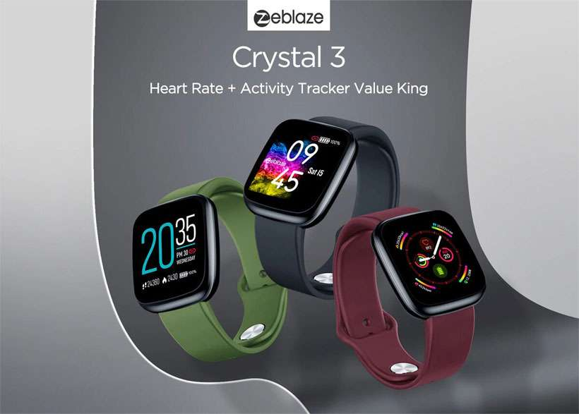 New Zeblaze WR IP67 Heart Rate Crystal 3 Smart Watch - Shop Electronics, Fashion, Beauty, Home & Garden & More @Nesavastore