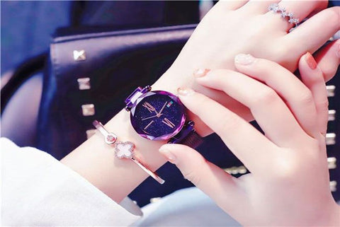 Women Minimalism Casual Starry Watches